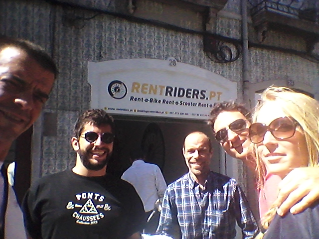 Our friends from France @ Rent Riders - Rent a Scooter Lisbon