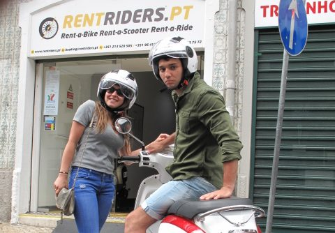 Nos Amis de Belgique @ Rent Riders - Location de Scooters - Lisbonne